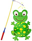 Unbekannt 2 TLG. Set _ Papier Laterne / Lampion + Laternenstab -  lustiger Frosch  - für Kinder Papierlaterne - Laternen Lampions - Figuren - für Laternenumzug - Mädc..