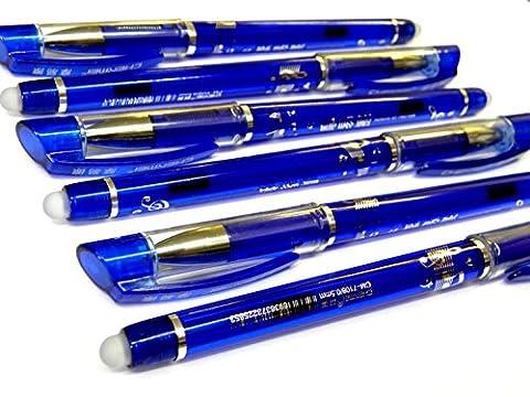 12 Radierbare Gel Kugelschreiber 0,5mm Radierbarer Gel Kuli Schreiber Blau Tinte STAR-LINE®