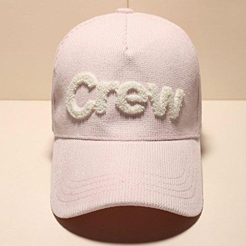 CJH Women's Casual Travel Simple Autumn And Winter Warm Visor Duckbill Cap Baseball Cap Pink