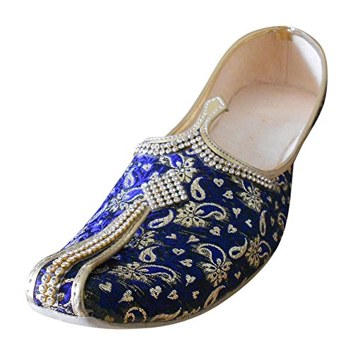Kalra Creations , Herren Hausschuhe Blue-Golden