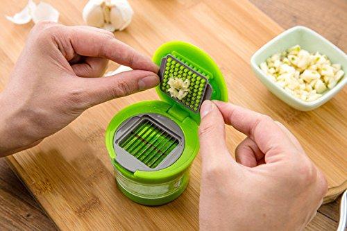 KITGLS Praktische Küche zu Hause Tool Kit Knoblauchpresse Häcksler Slicer Hand Presser Knoblauch Grinder (Grinder Tools Kit)