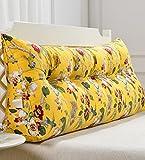 Praktische Büro Bett Sofa Taille Kissen Baumwolle Kopfbrettkissen Nachttisch Softbag Rückenlehnenkissen Nachttisch Großes Kopfteil Kissen Waschbar Dddlt- pillow and cushions ( Farbe : C , größe : 180*50*20cm )