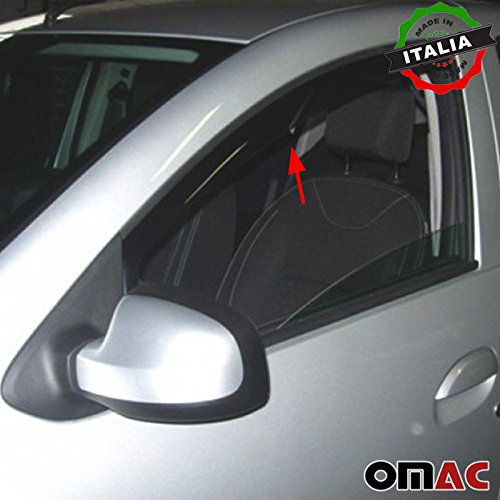 Omac GmbH Dacia Sandero Stepway Windabweiser Regenabweiser 2 tlg Satz Vorne 2008-2013