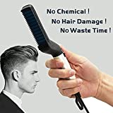 Mixen Quick Hair Styler for Men Electric Beard Straightener Massage Hair Comb Beard Care Comb Multifunctional Curly Hair Straightening Comb Curler