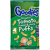 Organix Goodies Puffs organiques - tomates, fromage et Herb 12mth + (4x15g) - Paquet de 2