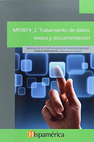Tratamiento de datos, textos y documentación