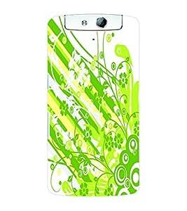 ColourCraft Flower Pattern Back Case Cover for OPPO N1