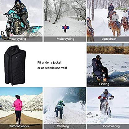 Freefa Electric Heated Vest USB Lightweight Size Right 5 Heating Zones Water Wind Resistant with Touchscreen Glove 6