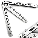 BOKHAMMER - Silber Silver Butterfly Balisong Trainer Übung Messer