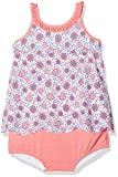 Archimède Baby-Mädchen Badeanzug Deauville Maillot Double Protection, Orange Corail, 18-24 Monate