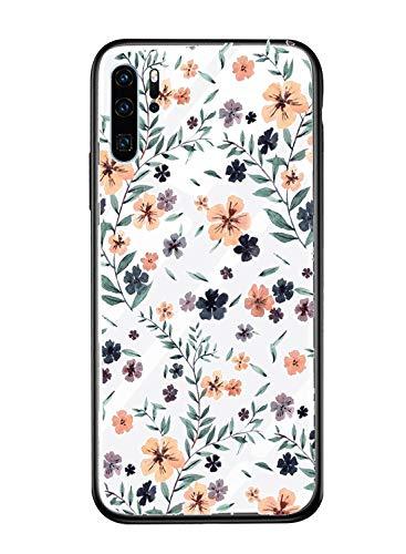 Caler Hülle Kompatibel mit Huawei Honor View 10 Lite/Honor 8X Hülle 9H Gehärtetem Marmor Glas Rückseite mit TPU Rahmen Schutzhülle Ultra Dünn Handyhülle Rahmen Hüllen [Stoßfest] Slim Shell Case (Dünne 8x10 Rahmen)