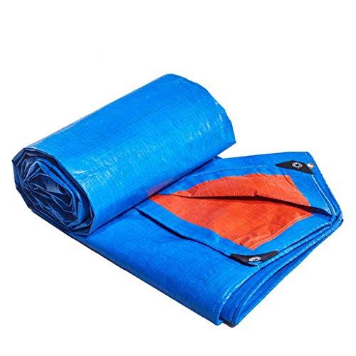 Bâches pour tente Toile imperméable à l'eau de bâche de PE imperméable, résistant aux UV,pourri,déchirure et déchirure bâche avec des oeillets et des bords renforcés-bleu-orange (taille : 3X6M)