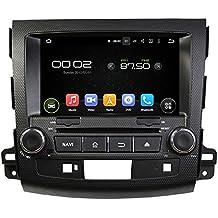 Sunshine Fly 8pulgadas Android 7.1Quad Core 1024* 600capacitiva pantalla táctil 2Din coche DVD GPS Radio estéreo para Mitsubishi Outlander 2006~ 2012Peugeot 40072007–2012GPS Auto Radio Reproductor de DVD Bluetooth Hotspot WiFi 3G SWC-50