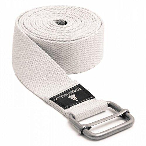 Yogistar Yogagurt - 260 cm - Metallverschluss - Weiß
