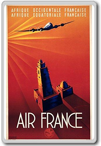 afrique-occidentale-francaise-air-france-vintage-travel-aviation-fridge-magnet-calamita-da-frigo