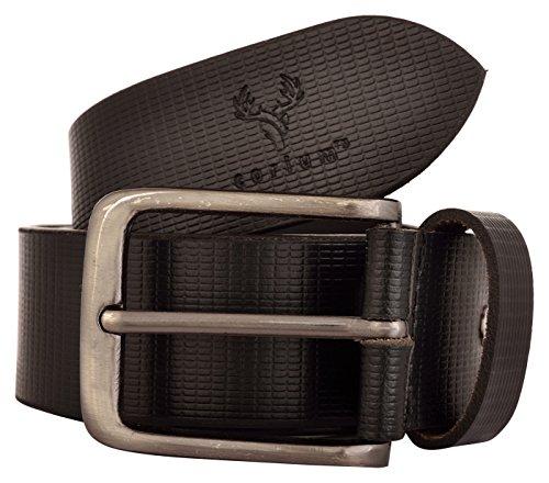 Corium Men's Leather Belt (Black, 38 Inch)