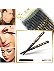 48 x BLACK EYELINER TWIST-UP PENS WATERPROOF WHOLESALE JOB LOT UK