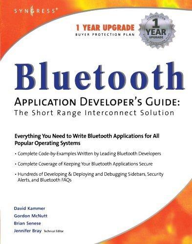 Bluetooth Application Developer's Guide by Jennifer Bray (2001-12-31) par Jennifer Bray;Brian Senese;Gordon McNutt;Bill Munday;David Kammer