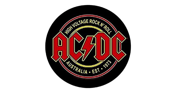 Circular Backpatch // R/ückenaufn/äher High Voltage Rock n Roll AC//DC