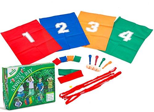 Preisvergleich Produktbild Garden Games 538 - Kinderpartyset Sport Tag-Set inklusiv Sackhüpfen Spiel