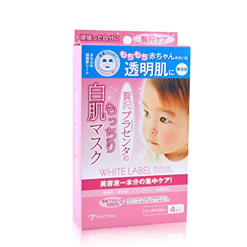 White Label Placenta Face Mask 23ml 4 Sheets