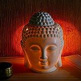 omonic Porzellan ZEN Garten Yoga Meditation Weiß Thai Buddha Statue Kopf ätherisches Öl Brenner Aromatherapie Diffusor Home Decor