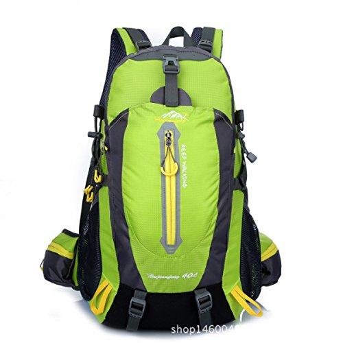 Escursionismo Zaino Da Viaggio All'aperto Alpinismo Borsa 40L Unisex Ad Alta Capacità Campeggio Zaino Green