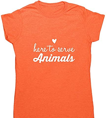 Hippowarehouse Damen T-Shirt Gr. XX-Large, Orange (Heather Orange)