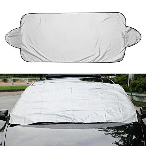 Daxey - Aluminium Car Masken-Abdeckung Sonnenschutz verhindert Schnee, Frost, EIS Staub Eaxterior Auto-Abdeckungen Zubehör