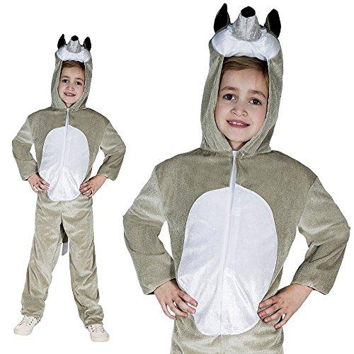 Monster Grauer Wolf Kinder Kostüm Größe 13 bis 16 Jahre Tierkostüm 50032 Karneval