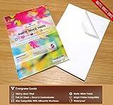 A4, 10hojas color blanco impermeable vinilo PVC calidad fuerte adhesivo, diseño mate de inyección de tinta imprimible FBA