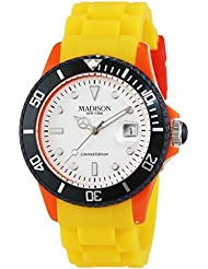 MADISON NEW YORK Unisex-Armbanduhr Candy Time Colour Festival Analog Quarz Silikon U4484C