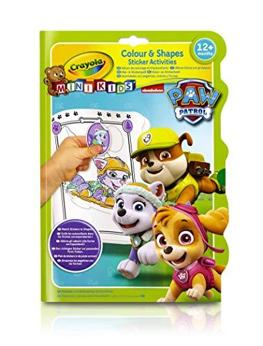 Crayola Mini Kids - 81-1373-E-000 - Album coloriage et Autocollants - Pat Patrouille
