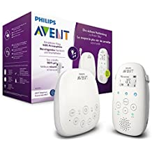 Philips Avent Audio-Babyphone, DECT-Technologie, Eco-Mode, 18 Std. Laufzeit, Gegensprechfunktion, Schlaflieder SCD713/26
