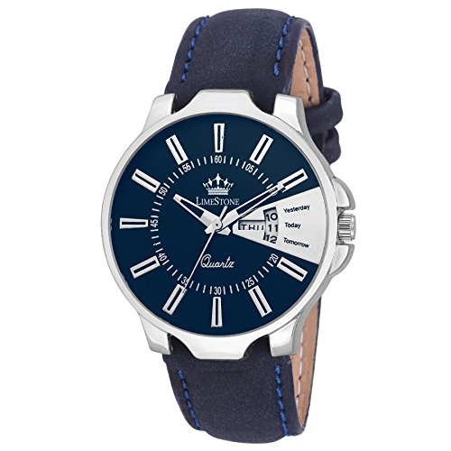 Limestone Analog Blue Dial Mens Watch (Ls2666)