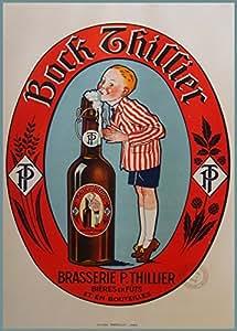 Hofmeister Holzwaren Tonnelet avec support Vintage Thillier Reproduction Poster bière sur 200 g/m² Brillant Format A3 (faible) Art