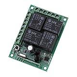 12 V 433 Mhz 4CH Kanal Relais RF Drahtlose Fernbedienung Schalter Empfängermodul für Garagentoröffner Autos