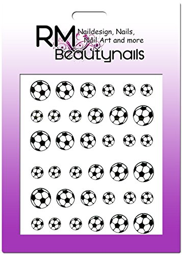 016 Nageldesign Ball Bälle Nailart RM Beautynails Nailwrap (Einzigartige Fußball-bälle)
