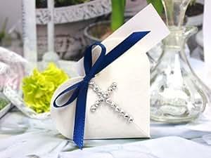 Regalo del cuore argento croce tavola conferma comunione battesimo croce