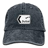 Aoliaoyudonggha Men Women Classic Denim Dubai Adjustable Baseball Cap Dad Hat Low Profile Perfect for Outdoor