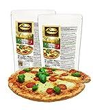 Dr. Almond Paleo Backmischung PIZZA TEIG low-carb glutenfrei sojafrei (2er Pack, für 4 Pizzen) Das Original