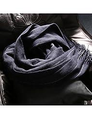 Mujeres moda gran tamaño manta bufanda abrigo Poncho chal capa con borlas acogedor imitación Cachemira , blue