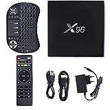 X96 Smart TV BOX, YTAT Android 6.0 Amogic S905X Quad-Core Smart Set Top TV Box, HD 4K 60fps VP9 HDR H.265 mit WiFi DLNA HDMI 2.0A Smart-Set-Top-Box+ Mini Wireless Keyboard Hintergrundbeleuchtung