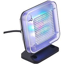 DECKEY LED TV Simulator mit 3 wählbar Programme, Mini Fake TV ( Fernsehlicht Imitation für Einbruchschutz), Fernsehsimulator/Fernseh-Attrappe,mit 12 LEDs und Zeitschaltuhr