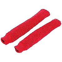ad999821bf8 Manchons de protection anti-dérapants en serviette éponge pour manches de  raquettes ...