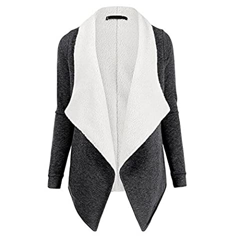 Ksweet Kurz Fleecejacke Damen Jacke aus Teddyfleece Jacken Damen Winter Übergangsjacke Leicht Damenjacke