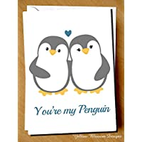 Penguin Husband Wife Anniversary Valentines Day Birthday Christmas Card Partner Greeting Love Couple Marriage Happiness Girlfriend Boyfriend Wedding Day Cute
