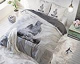 Bettwäsche Sleeptime Buddha Love, 200cm x 200cm, Mit 2 Kissenbezüge 80cm x 80cm, Braun