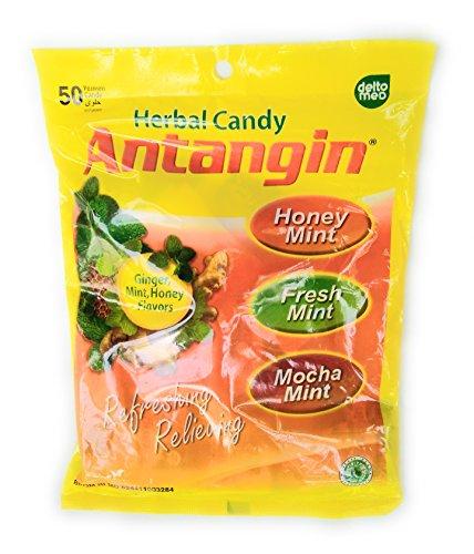 Antangin Herbal Candy Assortiment de Saveurs (Gingembre, Menthe et Miel), 100 Grammes