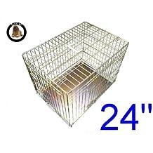 ellie-bo perro perrito de la jaula plegable 2puerta con orificio non-chew bandeja de metal pequeño (61cm)